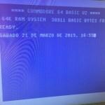 Commodore 64 recién reparado